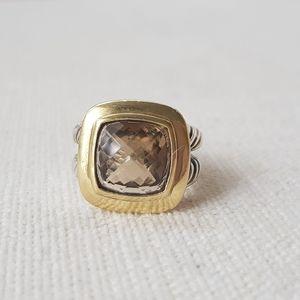 David Yurman Albion 11mm Champagne Citrine Ring Wi